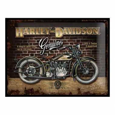 Vintage muurplaat harley davidson genuine 30 x 40 cm