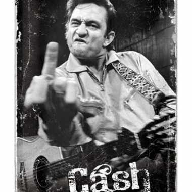 Vintage muurplaat johnny cash 20 x 30 cm