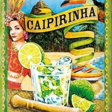 Vintage muurplaatje caipirinha 15 x 20 cm