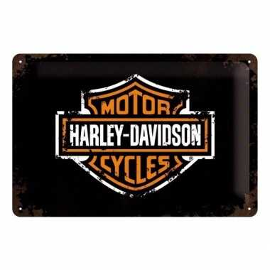 Vintage muurplaatje harley davidson 20 x 30 cm