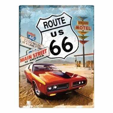 Vintage muurplaatje route 66