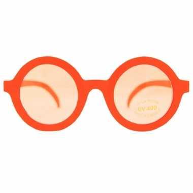 Vintage nerd feest brillen oranje