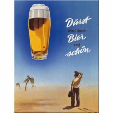 Vintage oktoberfest - muurdecoratie durst wird durch bier erst sch?n