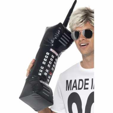 Vintage opblaasbare retro telefoon 75 cm
