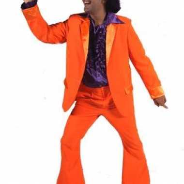 Vintage oranje heren kostuum
