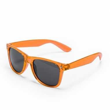 Vintage oranje retro model zonnebril voor volwassenen