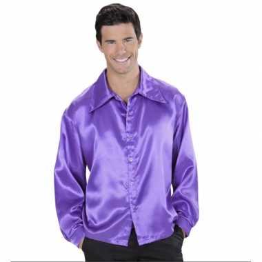 Vintage paarse satijnen blouse