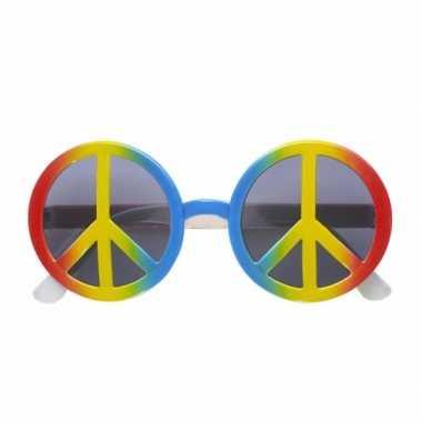 Vintage peace hippie zonnebril
