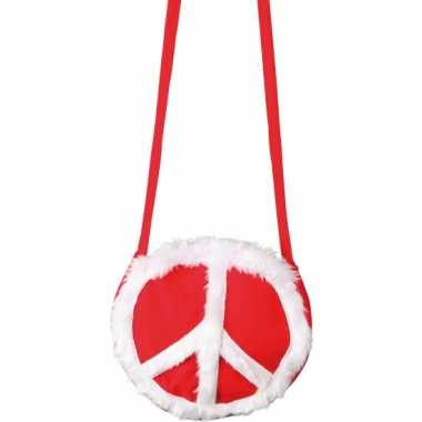 Vintage peace tasje rood