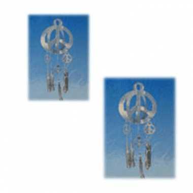 Vintage peace teken hangdecoratie