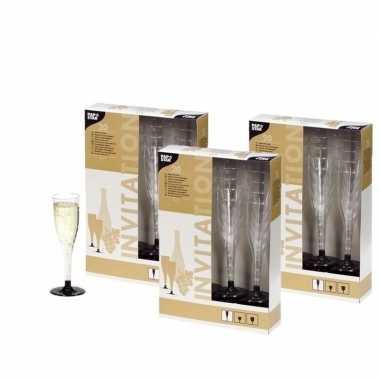 Vintage plastic champagne glazen 60 stuks