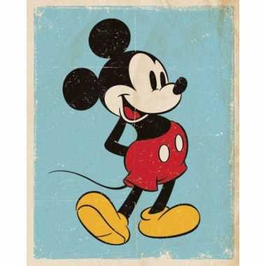 Vintage poster mickey mouse retro 40 x 50 cm