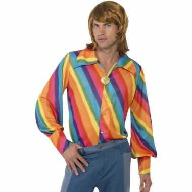 Vintage regenboog 70s shirt