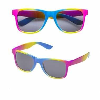 Vintage regenboog retro zonnebril
