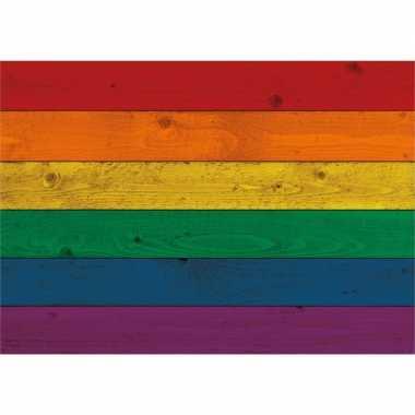 Vintage regenboog vlag poster 84 x 59 cm