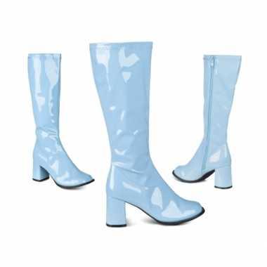 Vintage retro laklaarzen blauwe kleur