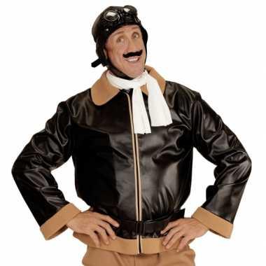Vintage retro piloten jas