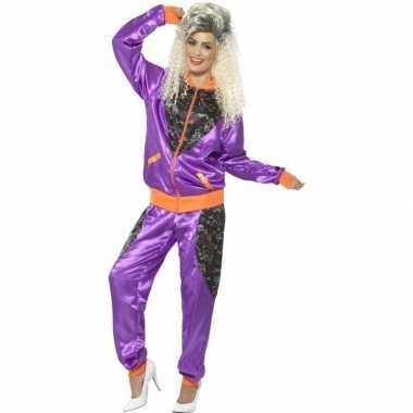 Vintage retro trainingspak kostuum paars