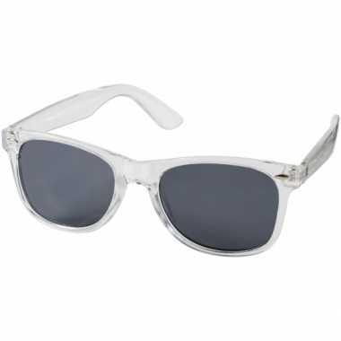 Vintage retro zonnebril transparant