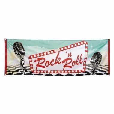 Vintage rock n roll banner 74 x 220 cm