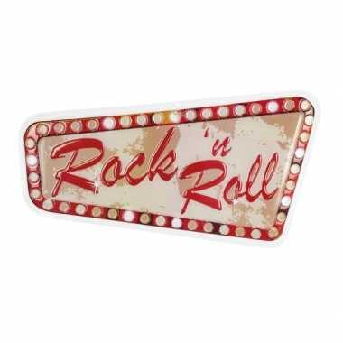 Vintage rock n roll muur decoratie 33 x 60 cm