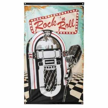 Vintage rock n roll vlag 90 x 150 cm