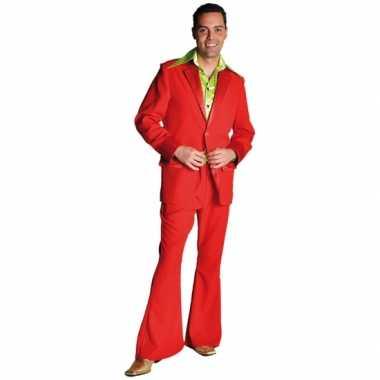 Vintage rood seventies kostuum voor heren