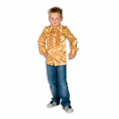 Vintage rouches blouse goud voor jongens