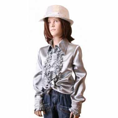 Vintage rouches blouse zilver voor meisjes
