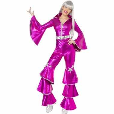 Vintage roze dancing queen kostuum 70s
