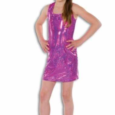 Vintage roze glitter jurk voor meisjes