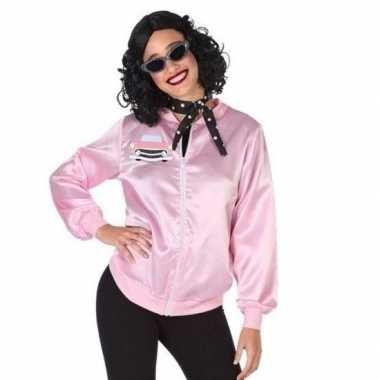 Vintage roze rock and roll verkleed jasje voor dames