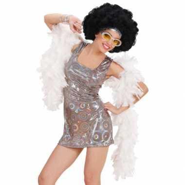 Vintage seventies disco diva jurkje zilver