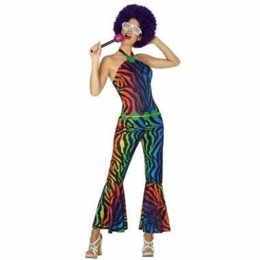 Vintage seventies/disco verkleedkleding voor dames