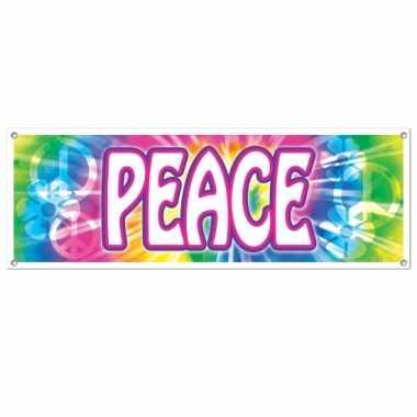 Vintage sixties peace banner 150 cm