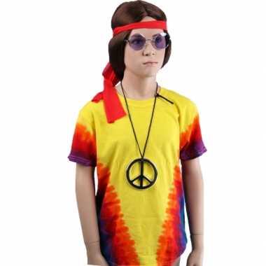 Vintage sixties t-shirt rainbow voor kinderen