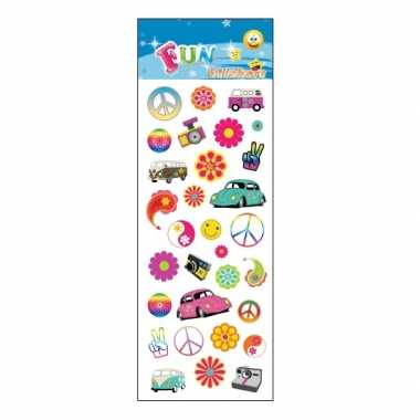Vintage stickervel flower power