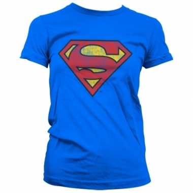 Vintage superman logo t-shirt dames