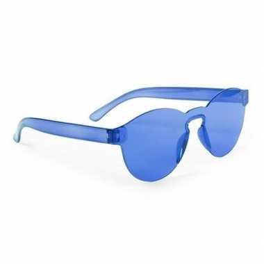 Vintage toppers - blauwe verkleed zonnebril voor volwassenen