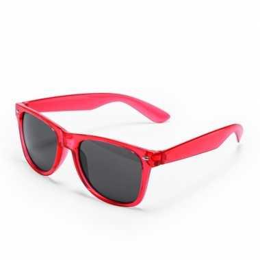 Vintage toppers - rode retro model zonnebril voor volwassenen