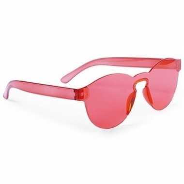 Vintage toppers - rode verkleed zonnebril voor volwassenen