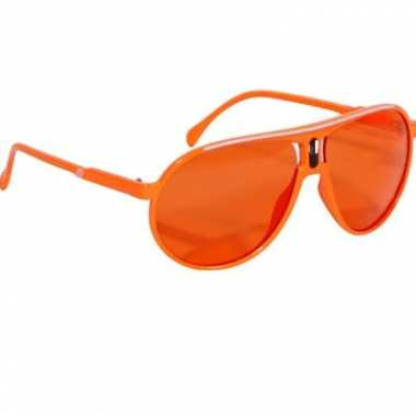 Vintage trendy bril oranje