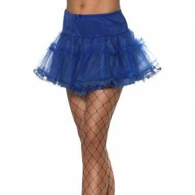 Vintage tule petticoat blauw