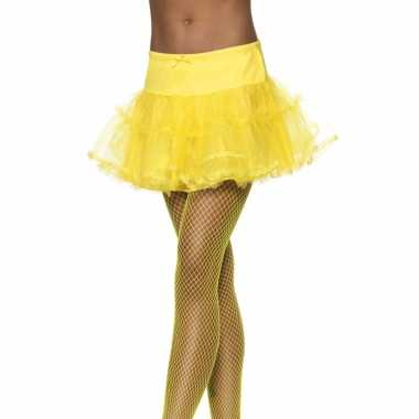 Vintage tule petticoat geel