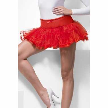 Vintage tule petticoat rood