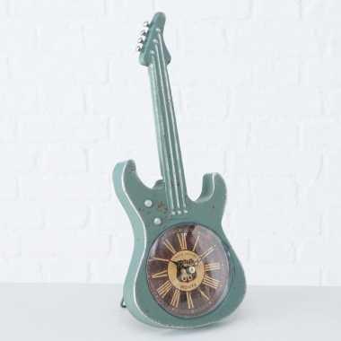 Vintage turquoise elektrische gitaar klok 34 cm