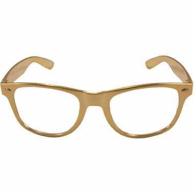 Vintage verkleed bril metallic goud