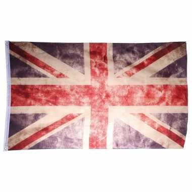 Vintage vlag verenigd koninkrijk 150 x 90 cm
