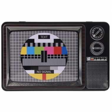 Vintage voorraadblik televisie testbeeld 27,5 cm