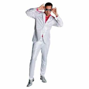Vintage wit disco glitter pak voor heren